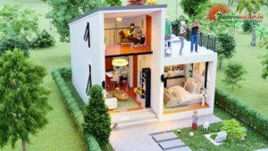 House plan, mezzanine floor, increase usable areaHouse plan, mezzanine floor, increase usable area