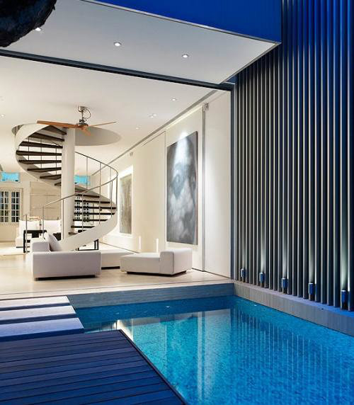 จัดประเภทสระว่ายน้ำในบ้านตามประเภทของน้ำที่ใช้งานในสระ
